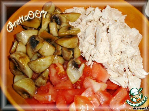 рецепты грудка с грибами и сметаной