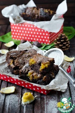 Рецепт Брауни с лимонным курдом