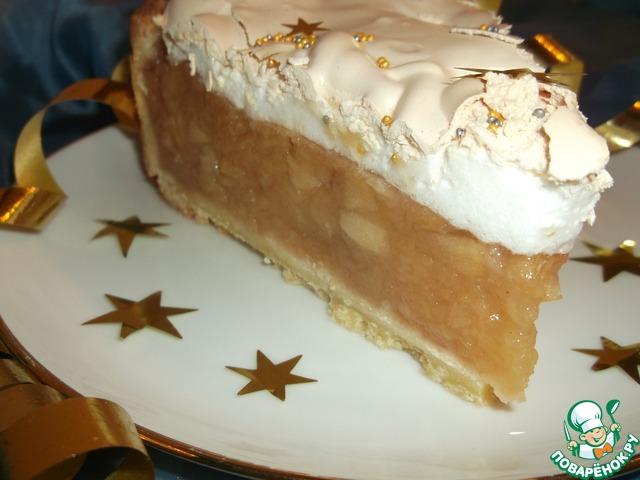 Пирог яблоки в снегу рецепт