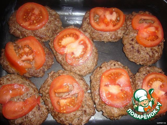 Котлеты с помидорами в духовке рецепт с пошагово в