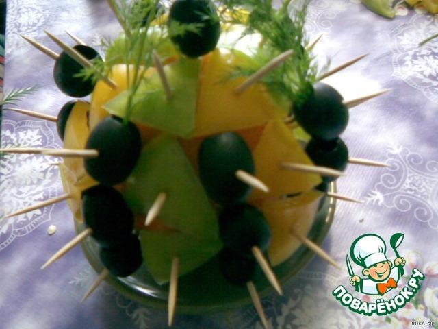 Закуска-украшение - Ежик - кулинарный рецепт