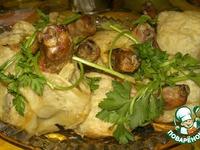 Слоеные мешочки с курицей ингредиенты