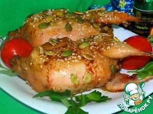 Рецепт Перепела, фаршированные грибами и куриными сердечками