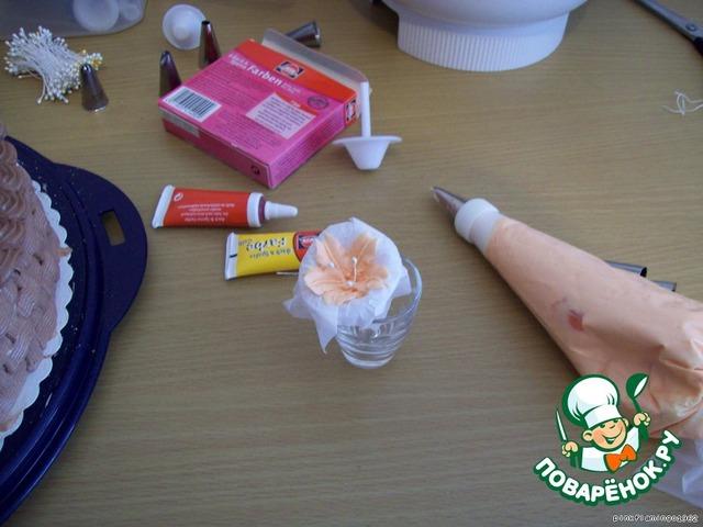 Как сделать розочки из крема на торт в домашних 946
