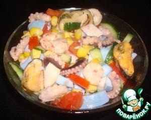 Салат с морским коктейлем простой пошаговый рецепт приготовления с фото как готовить