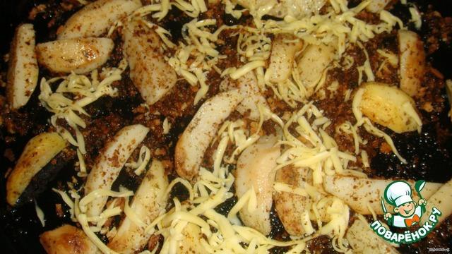 картошка с сухарями в духовке рецепт