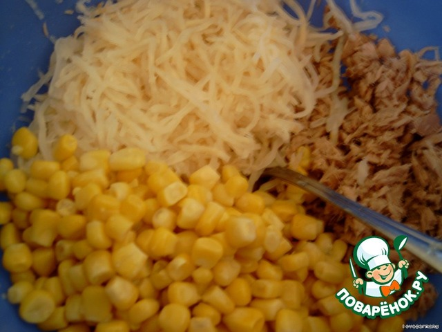 легкий салат с тунцом рецепт с фото пошагово