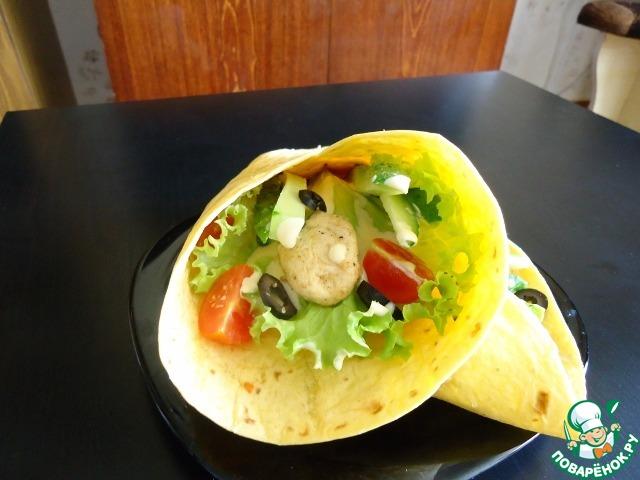 рецепты сэндвич с мексиканской лепешкой