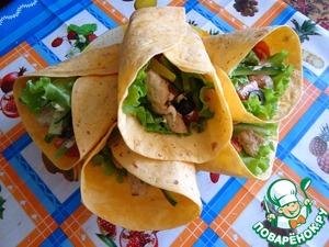 Рецепт Тортилья или вкусный сандвич в мексиканской лепешке