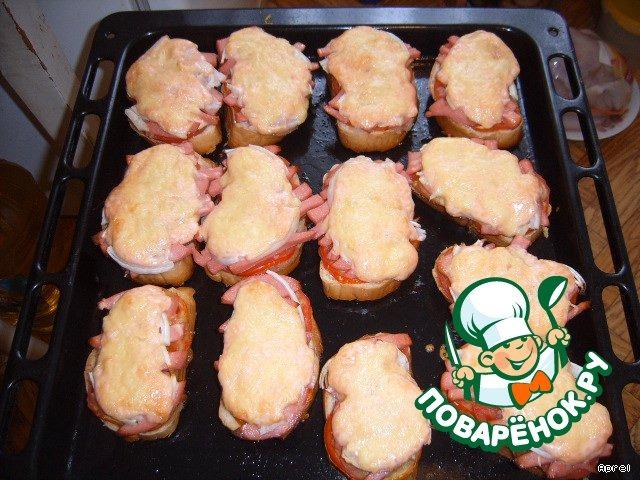 рецепты горячих бутербродов поваренок