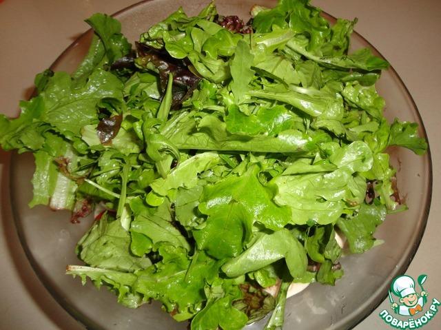 Салат с соусом песто рецепт с