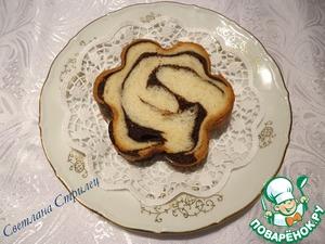 Рецепт Тостовый хлеб с шоколадной прослойкой