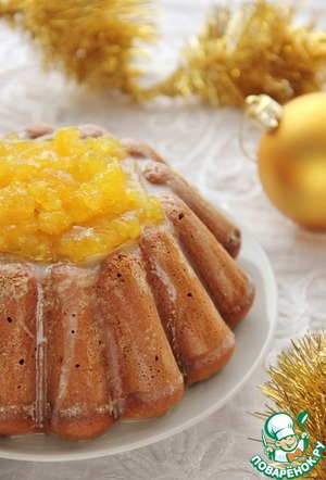 Рецепт Пряный зимний пирог с апельсиновым желе