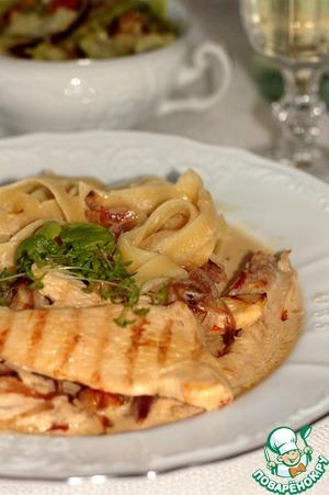Рецепт Куриное филе в сливочно-шафрановом соусе