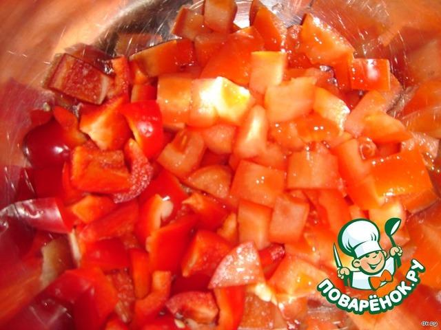 салат из печени куриной рецепт с помидорами и