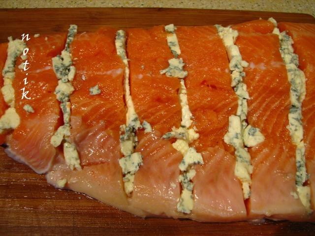 Форель с голубым сыром домашний рецепт с фотографиями #3