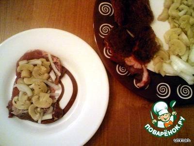 Домашний рецепт с фотографиями Мясные рулетики с грибами и луком #2