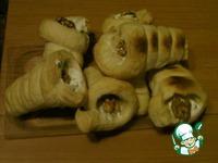 Слоёные трубочки с кремом из брынзы и творога ингредиенты