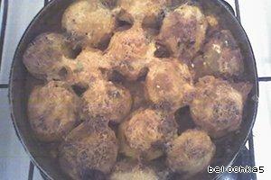 Фаршированный картофель рецепт приготовления с фото #5