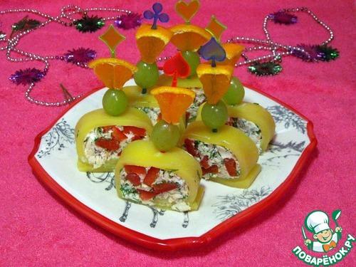 рецепты пошагово с фото рулетики сыром