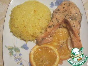 Рецепт Семга под апельсиновым соусом