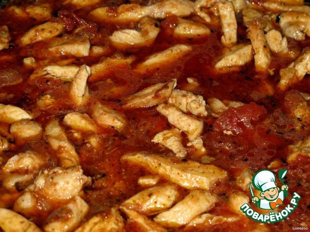 Простой рецепт приготовления с фотографиями Паста с курино-томатным соусом #6