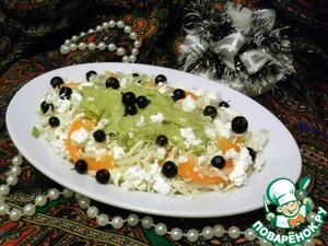 Рецепт Легкий овощной салат с заправкой из авокадо