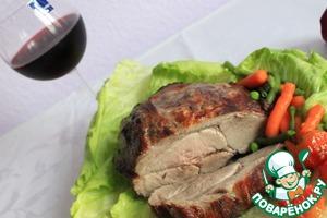 Рецепт Мясо в винном маринаде, запеченное в духовке