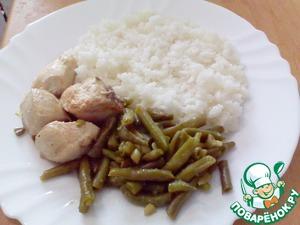 Рецепт Курица со стручковой фасолью и имбирем