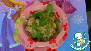 Рецепт Лосось с овощами и шпинатом