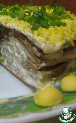 Как готовить Печеночный торт домашний пошаговый рецепт приготовления с фото