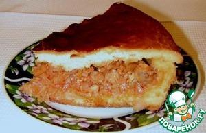 Рецепт Пирог с рыбой и капустой