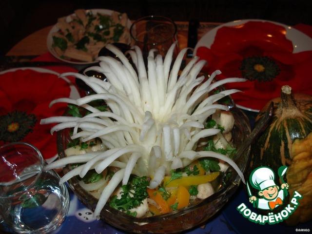 Салат из свежих шампиньонов на новый год