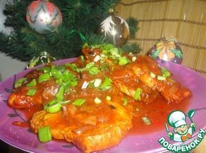 Рецепт Цельные котлеты из свинины в томатном соусе