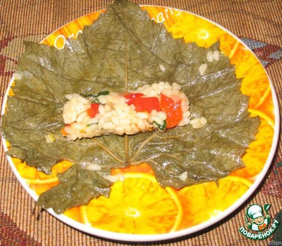 Долма фаршированные виноградные листья рецепт  с фото