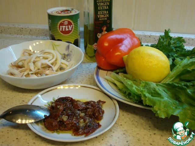 пошаговый рецепт приготовления салата из кальмаров