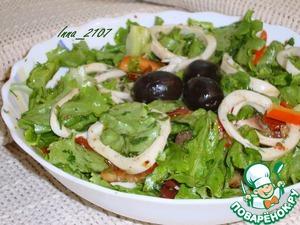 Рецепт Салат из кальмаров с вялеными помидорами