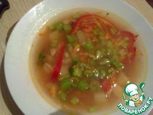Рецепт Суп с горбушей, фасолью и сельдереем
