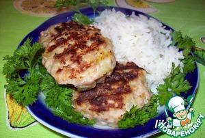 Рецепт Тефтели-гриль с кабачком и кусочками сыра внутри