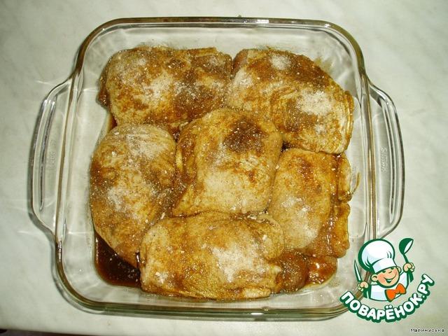 Курица соевый соус в духовке рецепт с пошагово
