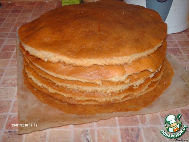 Рецепт воздушного медового торта с фото