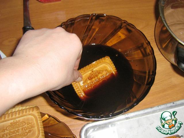 Торт из печенья к кофе пошаговый рецепт с фото
