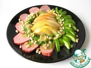Рецепт Салат из говядины с грушей