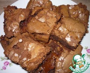Рецепт Шоколадные брауни с карамелью
