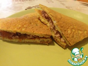Рецепт Легкий омлет на завтрак с тунцом