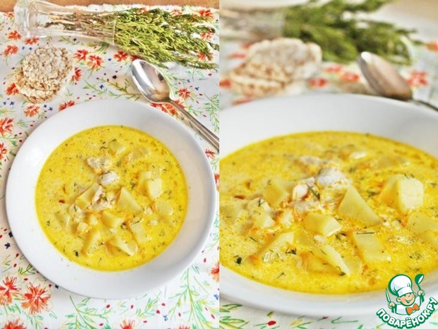 Рыбный суп сырный рецепт