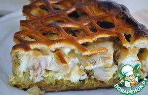 Рецепт Пирог из ржаного теста с рыбой и капустой