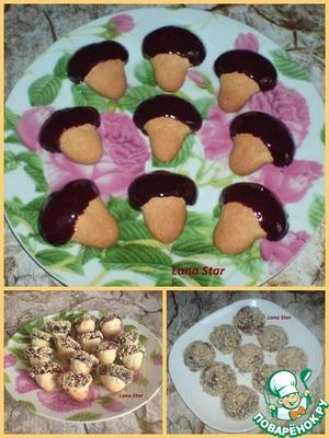 Рецепт Печенье с шоколадной глазурью