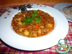 Рецепт Овощное рагу с фаршем