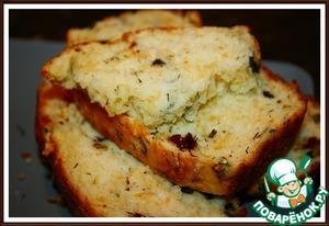 Рецепт Сырный хлеб с маслинами и вялеными помидорами
